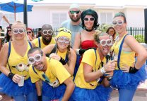The Southernmost Cafe Minions started the competition long before the other teams and scored second place in the outrageous costume division.