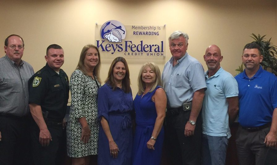 Pictured L to R: Ron Demes (Chairman of the Board), Jonathan Crane (Treasurer of the Board), Denise Rohrer (Chairperson of the Supervisory Committee), Carrie Helliesen (Secretary of the Supervisory Committee), Denise Preuss (Member of the Board and the Supervisory Committee), Greg Sullivan (Vice Chairman of the Board), John Mumford (Secretary of the Board), and Scott Duszynski (President & CEO of Keys FCU).