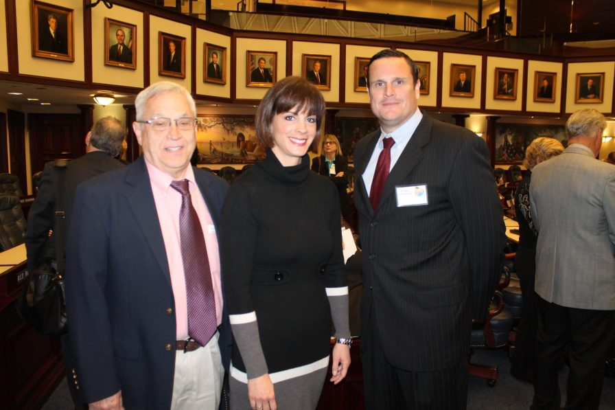 Dr. Robin Lockwood, Robert Lockwood and Key West Asst. City Manager Sarah Spurlock represent Key West and the Florida Keys on the House Floor at Florida Keys Day.