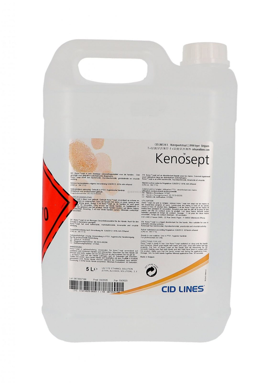 Was Ist Ethanol Kenosept 5lt Alcoholic Solution For Hand Hygiene Trade Only | Kellihers Feeds