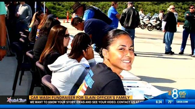 Car wash fundraiser for slain officer\u0027s family cbs8