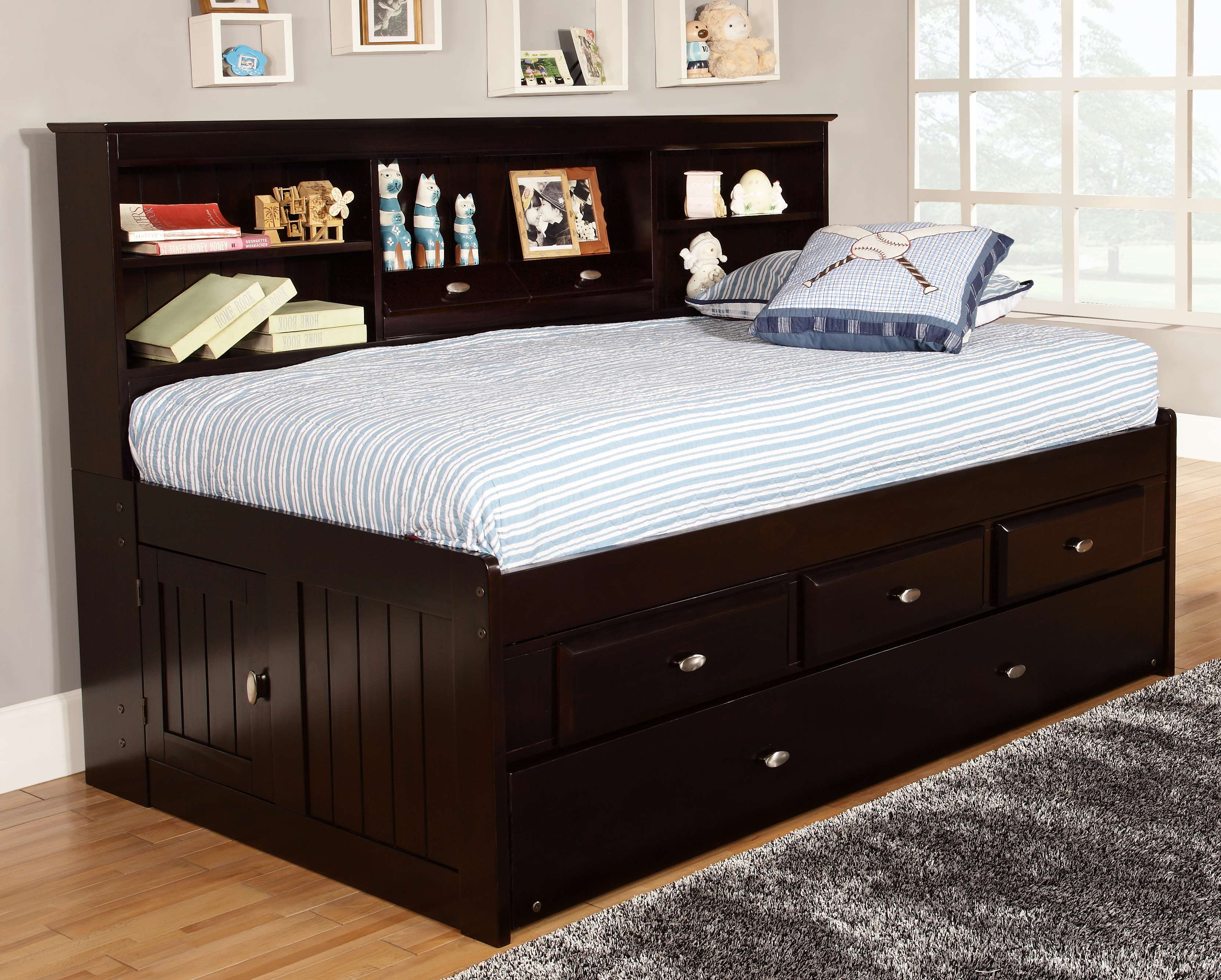 Day Beds For Sale Discovery World Furniture Espresso Twin Captain Day Beds