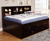 Discovery World Furniture Espresso Full Captain Day Beds ...