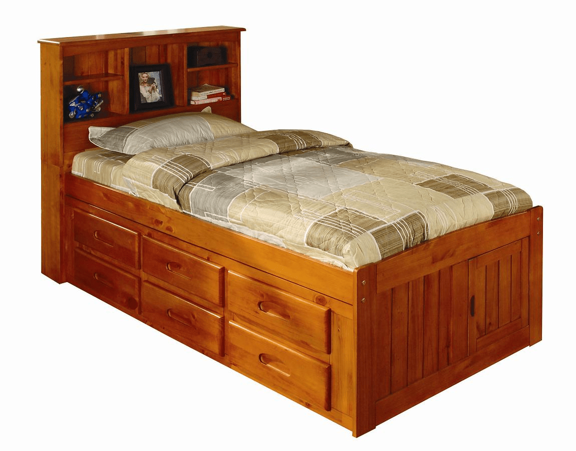 Discovery World Furniture Honey Twin Captain Beds Kfs Stores