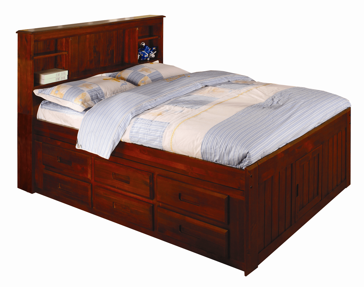 Discovery World Furniture Merlot Full Captain Beds Kfs