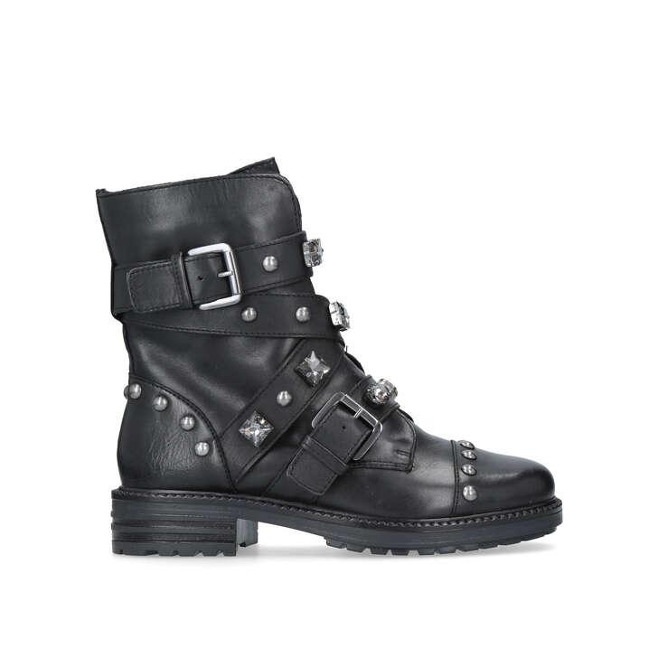 Sander Black Flat Ankle Boots By Carvela Kurt Geiger