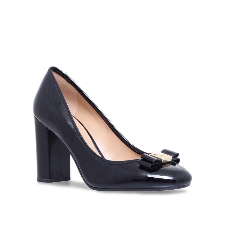 Caroline Pump Black Mid Heel Court Shoes By Michael Michael Kors