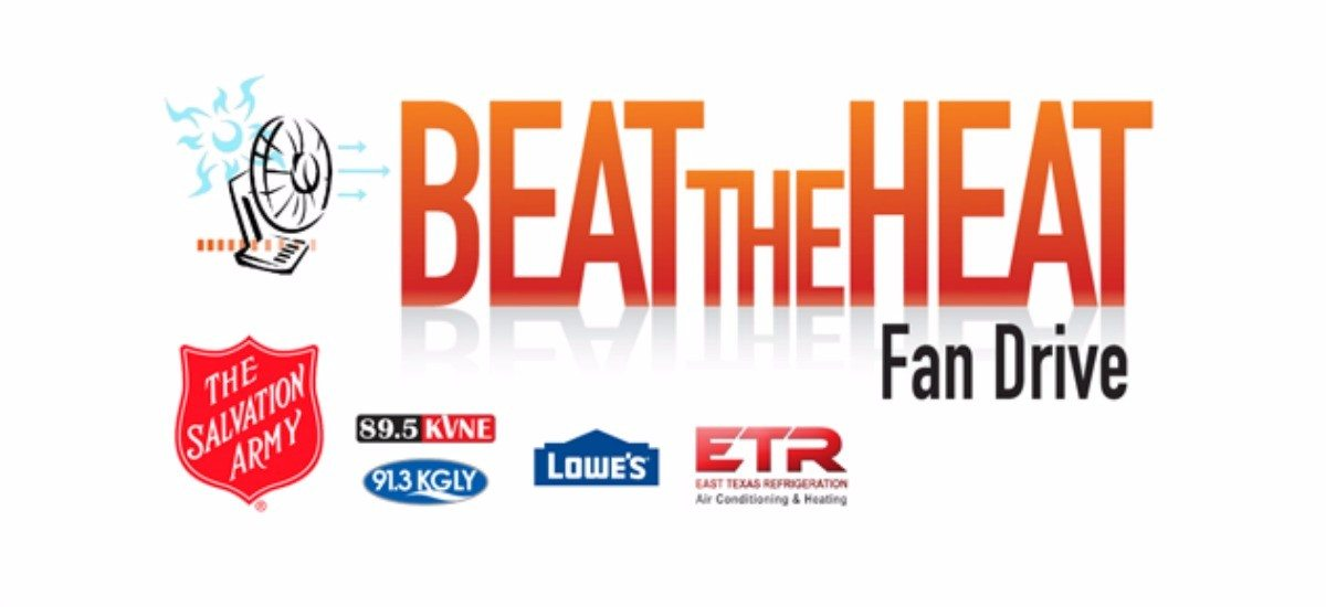 91.3 KGLY Beat the Heat Fan Drive Web Graphic