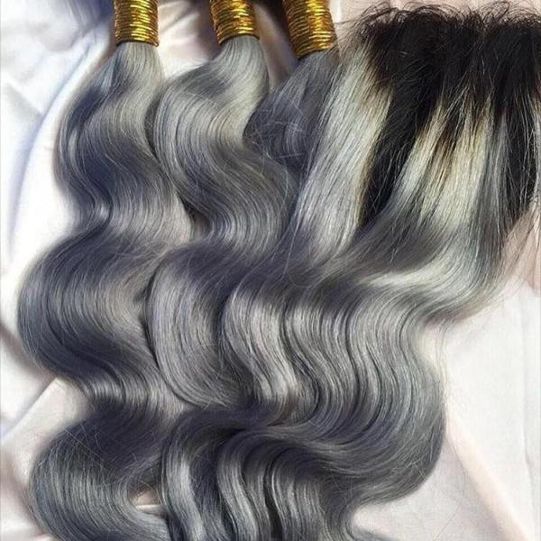 Grey Ombre Closure