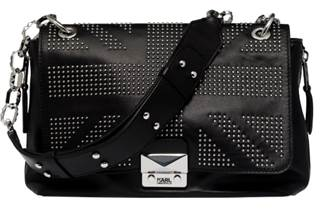Lagerfeld's union jack inspired handbag
