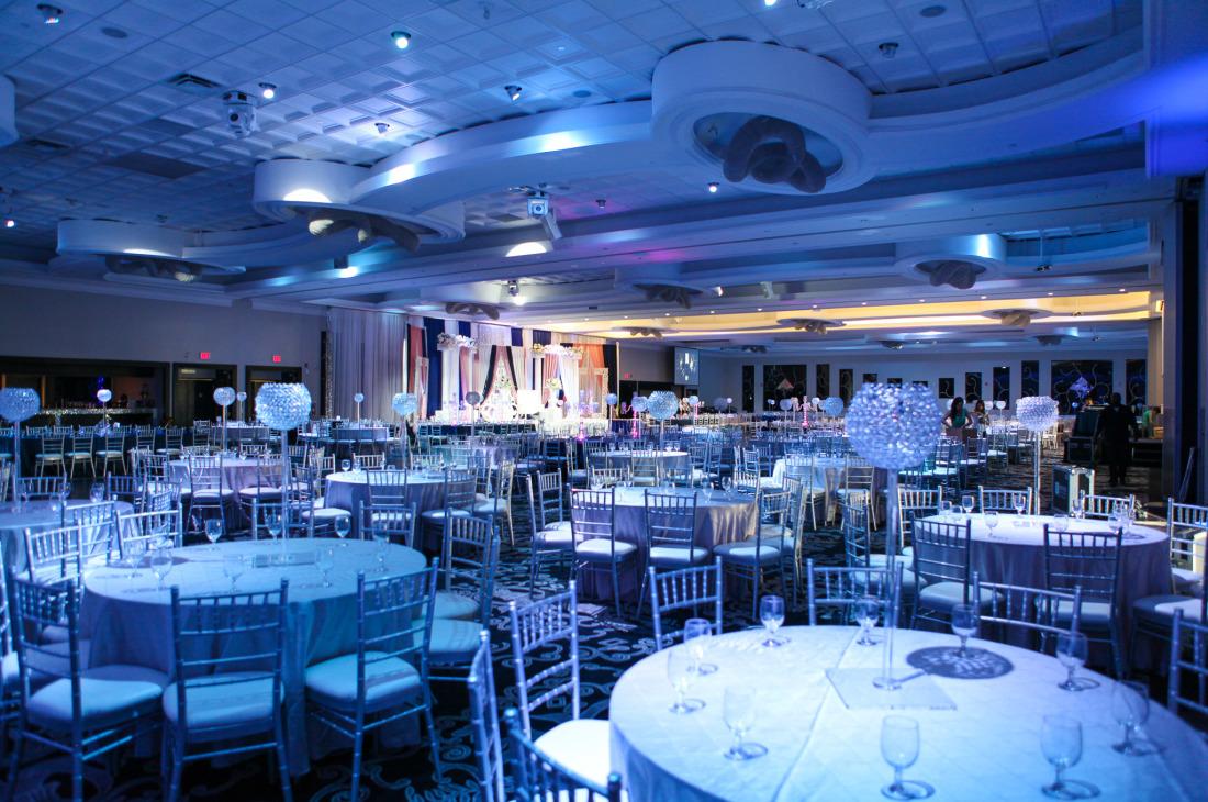 Home Decor With Flowers Manvir & Ronny - Wedding Reception at Apollo Convention Centre - Khazana Creations