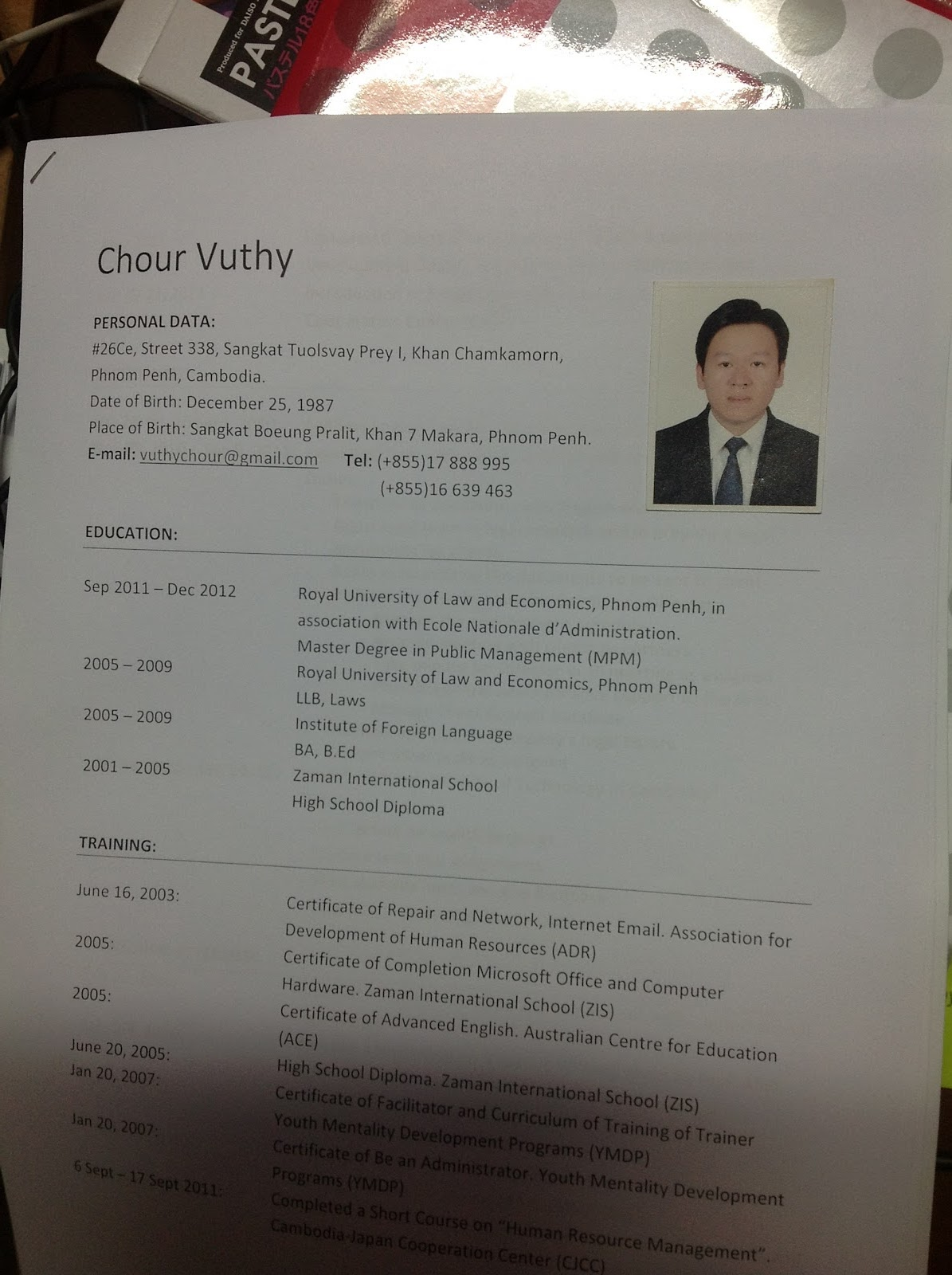 here is my cv attached