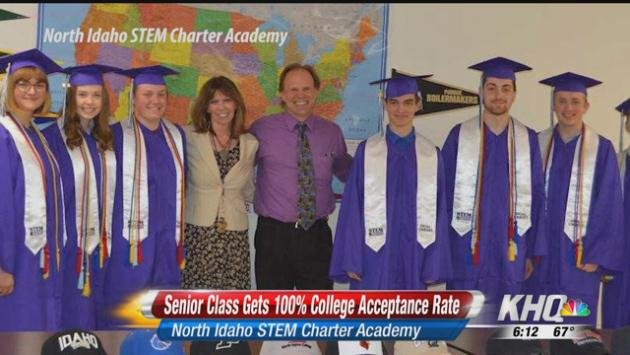 100 percent college acceptance rate for North Idaho STEM Charter - pm wells charter academy
