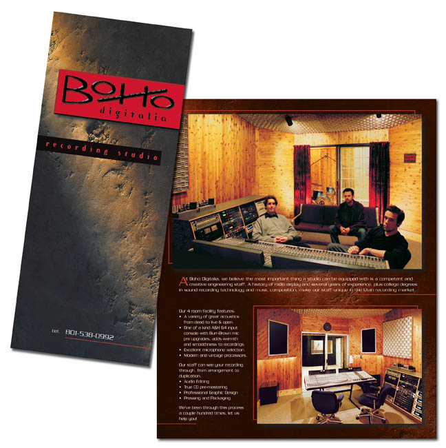 Recording Studio Brochure Kicbal Design - studio brochure