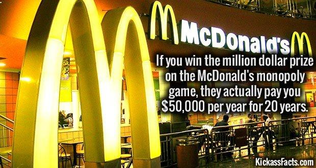 1494 McDonald's Million Dollar Prize