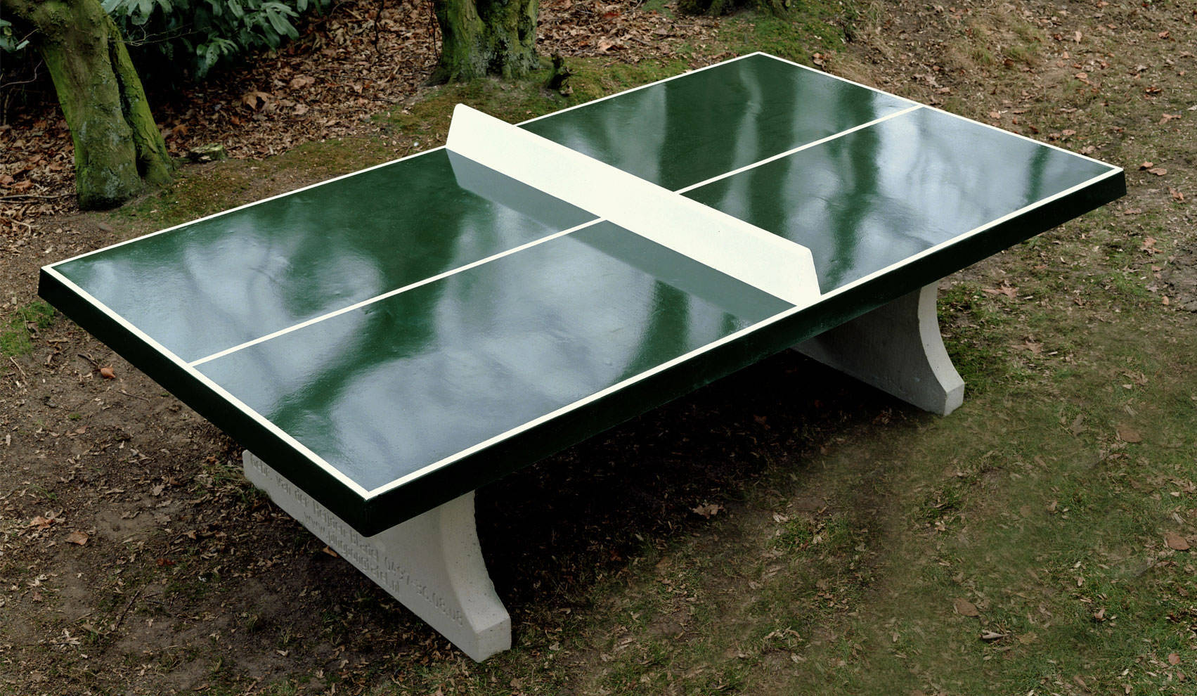 Table Tennis De Table Exterieur Tischtennisplatte Aus Beton Eckig Outdoor Kickerkult