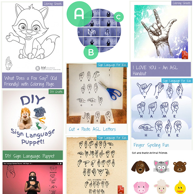 Free Sign Language for Kids - Videos  Handouts -kidCourses