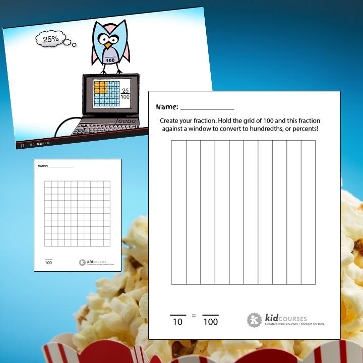Grid of 100 Squares - Free printable!kidCourses