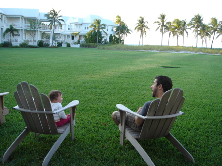 Marc and Riley relaxing at Marathon Key.