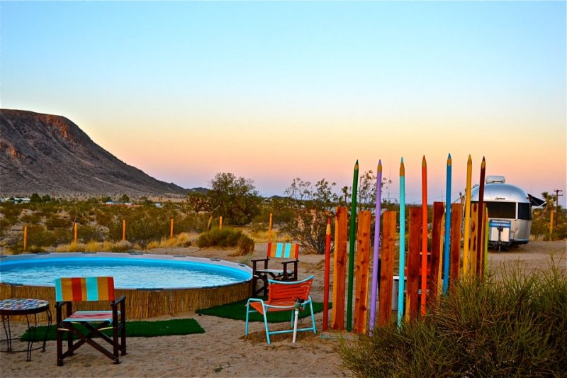 Kate's sister property near Joshua Tree. Bookmark these adults-only airstreams for when the kids can stay with grandparents.