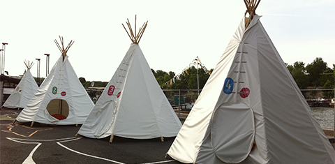 The birthday tepees are free to rent for birthdays.