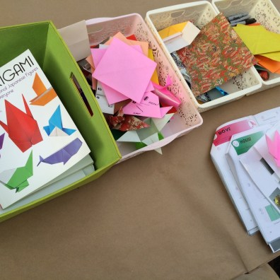 Papers and the Densho Origami book.