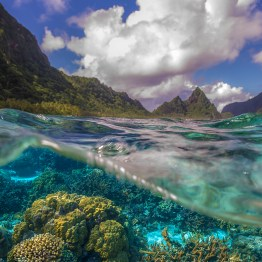Almost half of the land that makes up the National Park of American Samoa is coral reef, like here off the coast of Ofu island.