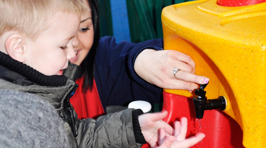 Learn about mobile sinks for children's hand washing at Childcare Expo 2016