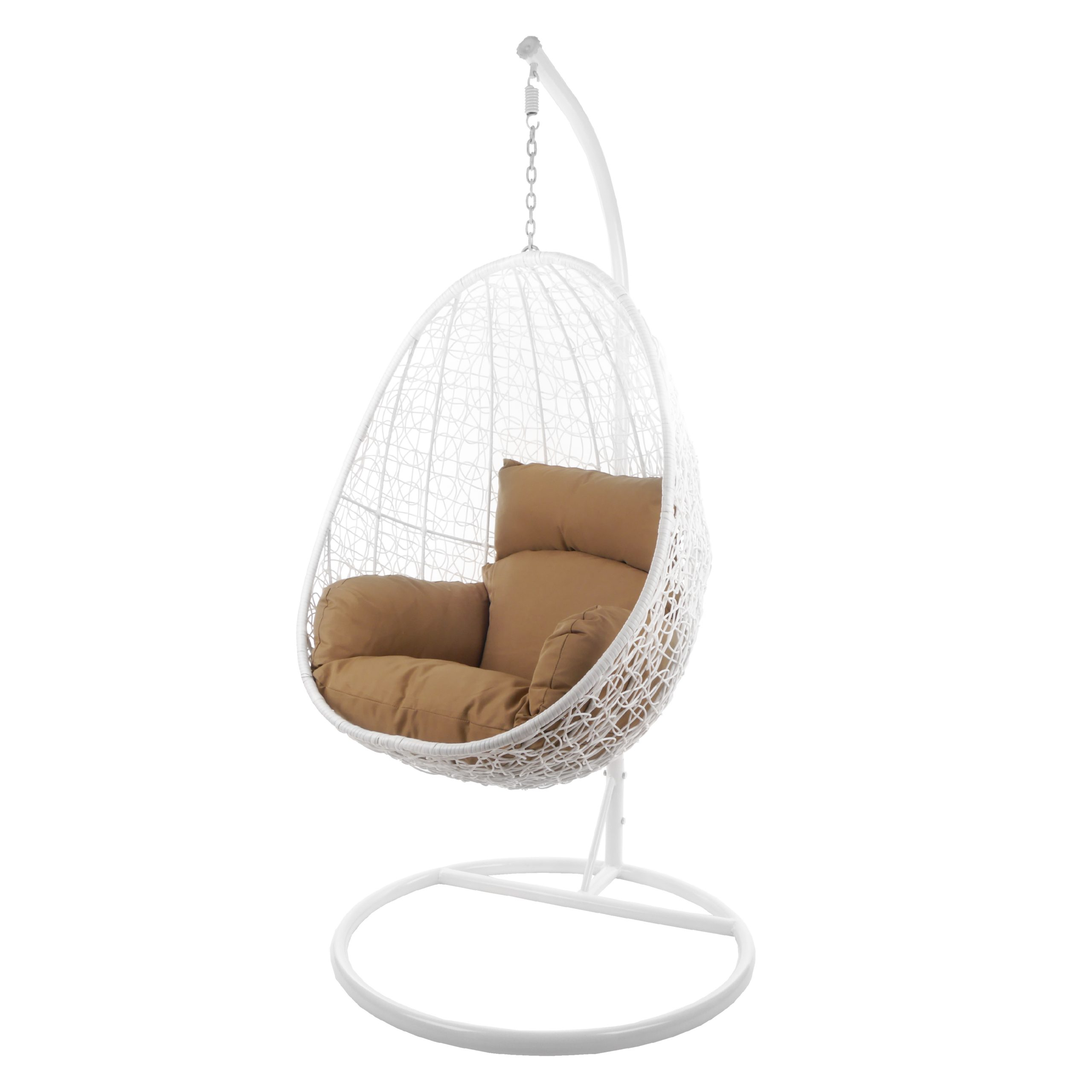 Hängesessel Capdepera Weiß Haselnuss Kideo Swing Chairs
