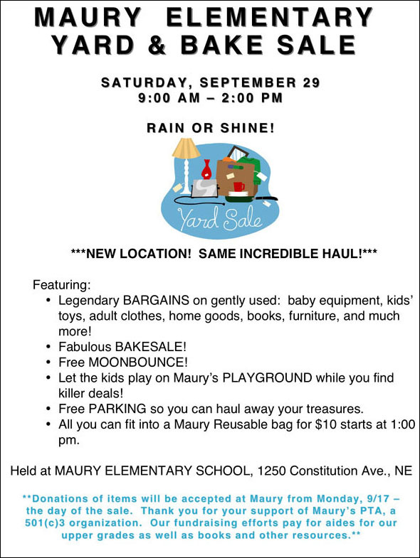 Score Great Bargains  Support a Local School! KidFriendly DC