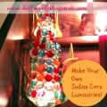 DIY Indian Corn Luminaries Made From Recycled Plastic Water Bottles!