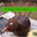 A Turkey Pumpkin Candle Holder For Thanksgiving!