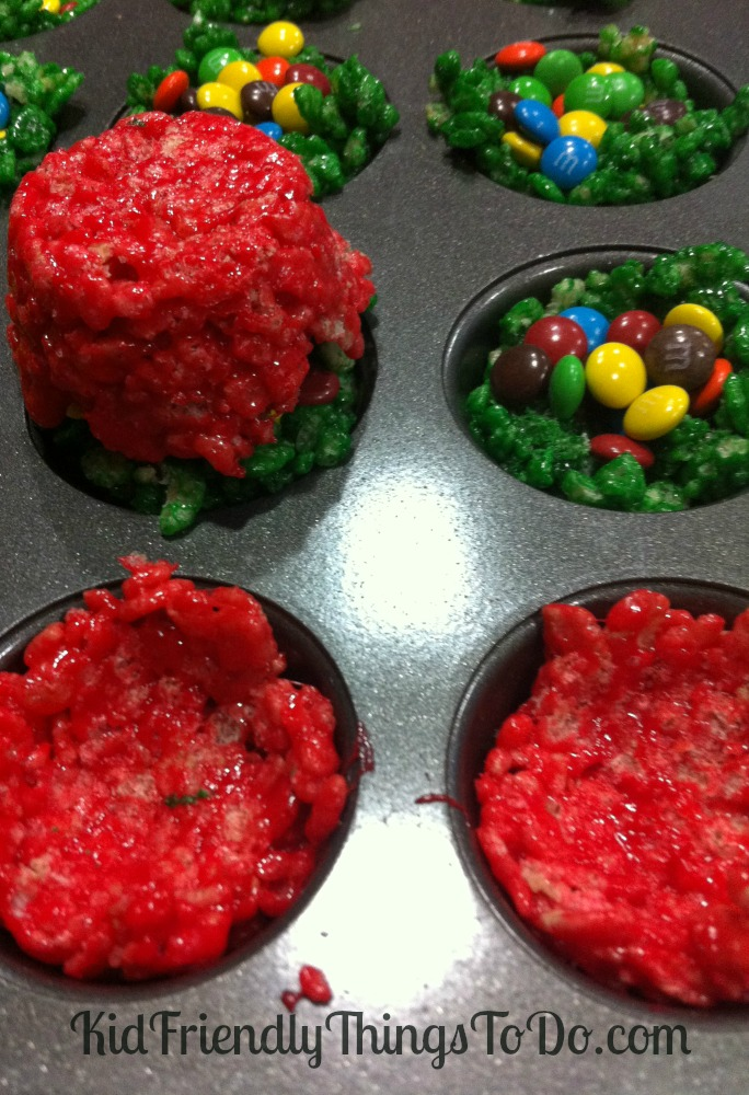How To Make Colored Rice Crispy Treats With Food Coloring
