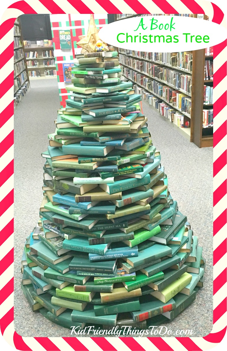 How To Make A Book Tree ~ Make a christmas tree from books kid friendly things to