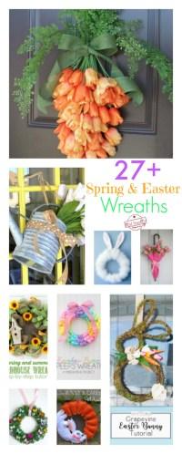 Over 27 DIY Easter and Spring Wreath & Door Decorations