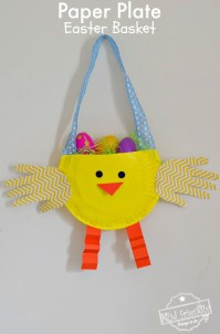 DIY Paper Plate Chicken Easter Basket Craft for Kids