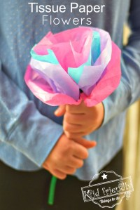 DIY Tissue Paper Flowers For Kids to Make with Pipe Cleaners