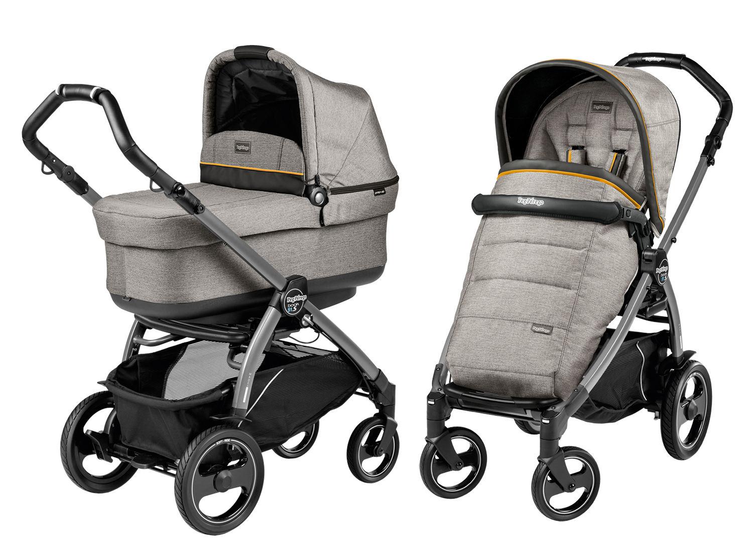 Peg Perego Book Plus 51 S Pop Up Коляска 2 в 1 Peg Perego Book 51 S Pop Up Modular шасси Jet
