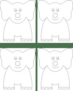 Elephant craft template costumepartyrun elmer coloring page elmer the elephant maxwellsz