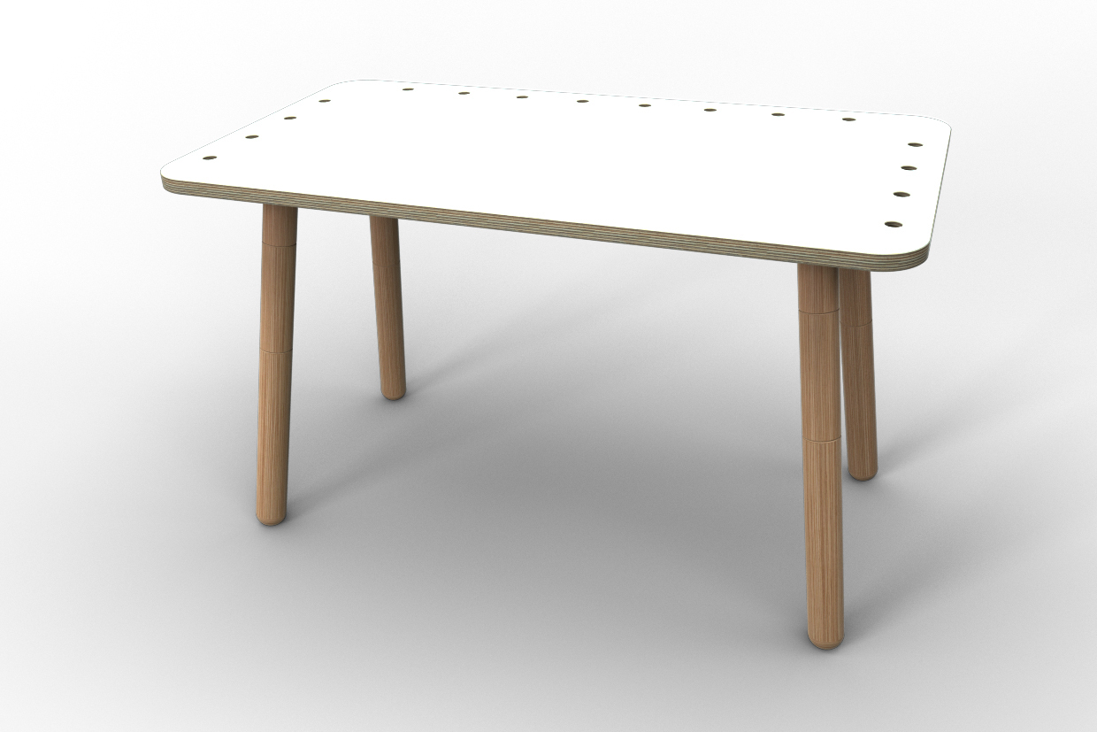 Design Tisch Weiß Kindertisch Growing Table Weiß