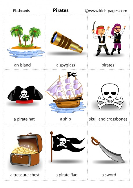 Card Games Pirates 1 Flashcard