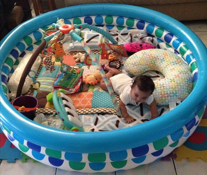 Outdoor Baby Playpen How To Make An Outdoor Lounge Using A Kiddie Pool Little