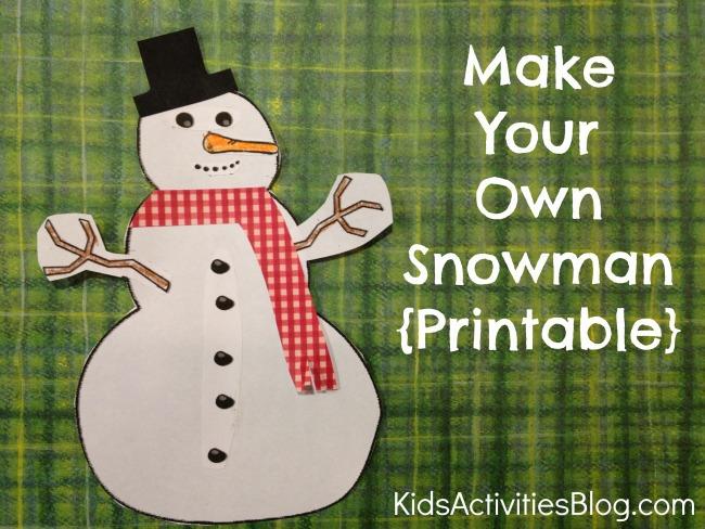 Snowman Printable Craft {Adorable Preschool Craft}