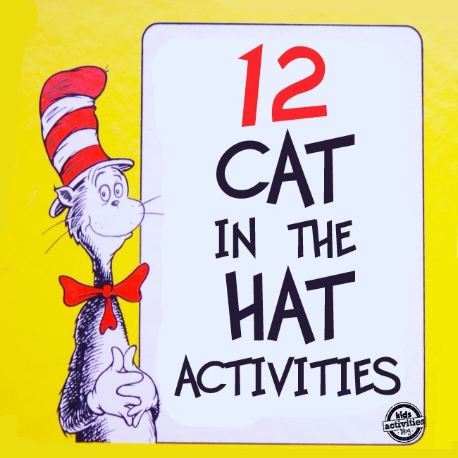 12 Dr Seuss Cat in the Hat Crafts and Activities for Kids