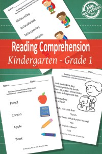 Back to School Reading Comprehension Worksheets {Free ...