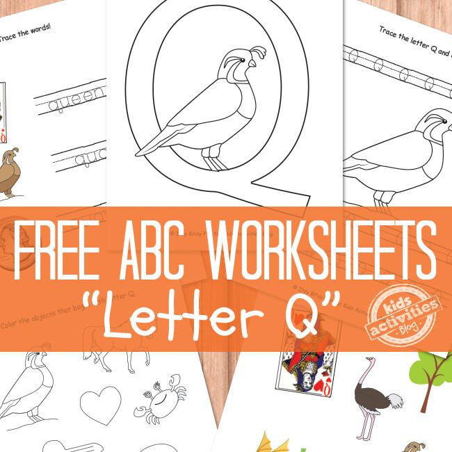 Letter Q Worksheets Free Kids Printable