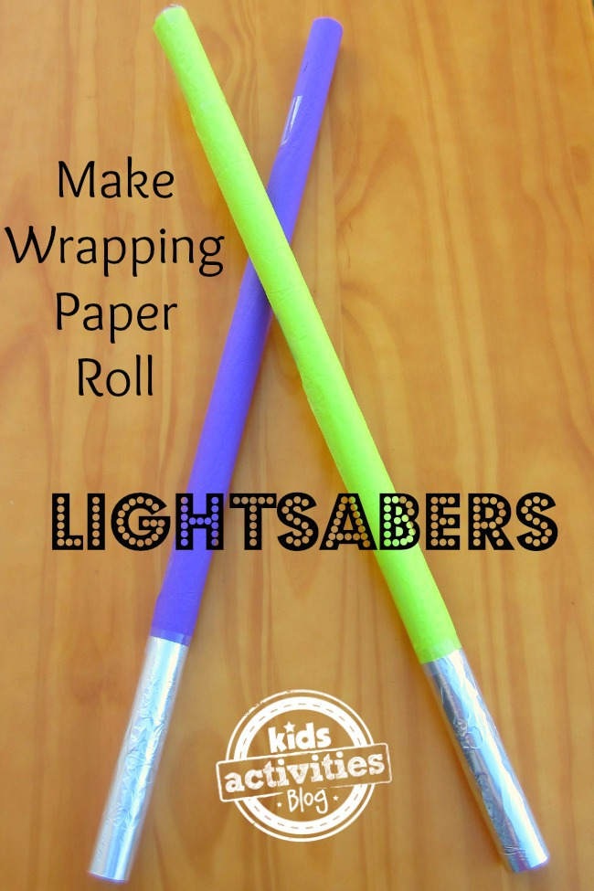 Make A Wrapping Paper Roll Light Saber