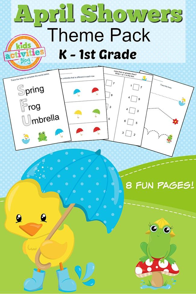 Spring Printable Kindergarten Worksheet Pack For Home Or Classroom