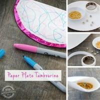 Paper Plate Tambourine