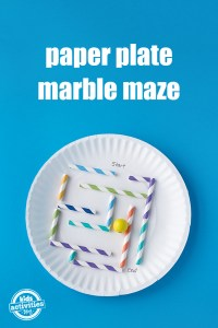 How to Make a Simple Paper Plate Marble Maze.... : Kids ...